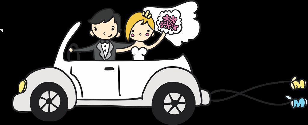Clipart cars wedding. Desenho de noivinhos para