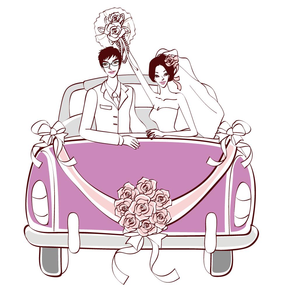 Clipart cars wedding. Invitation marriage clip art