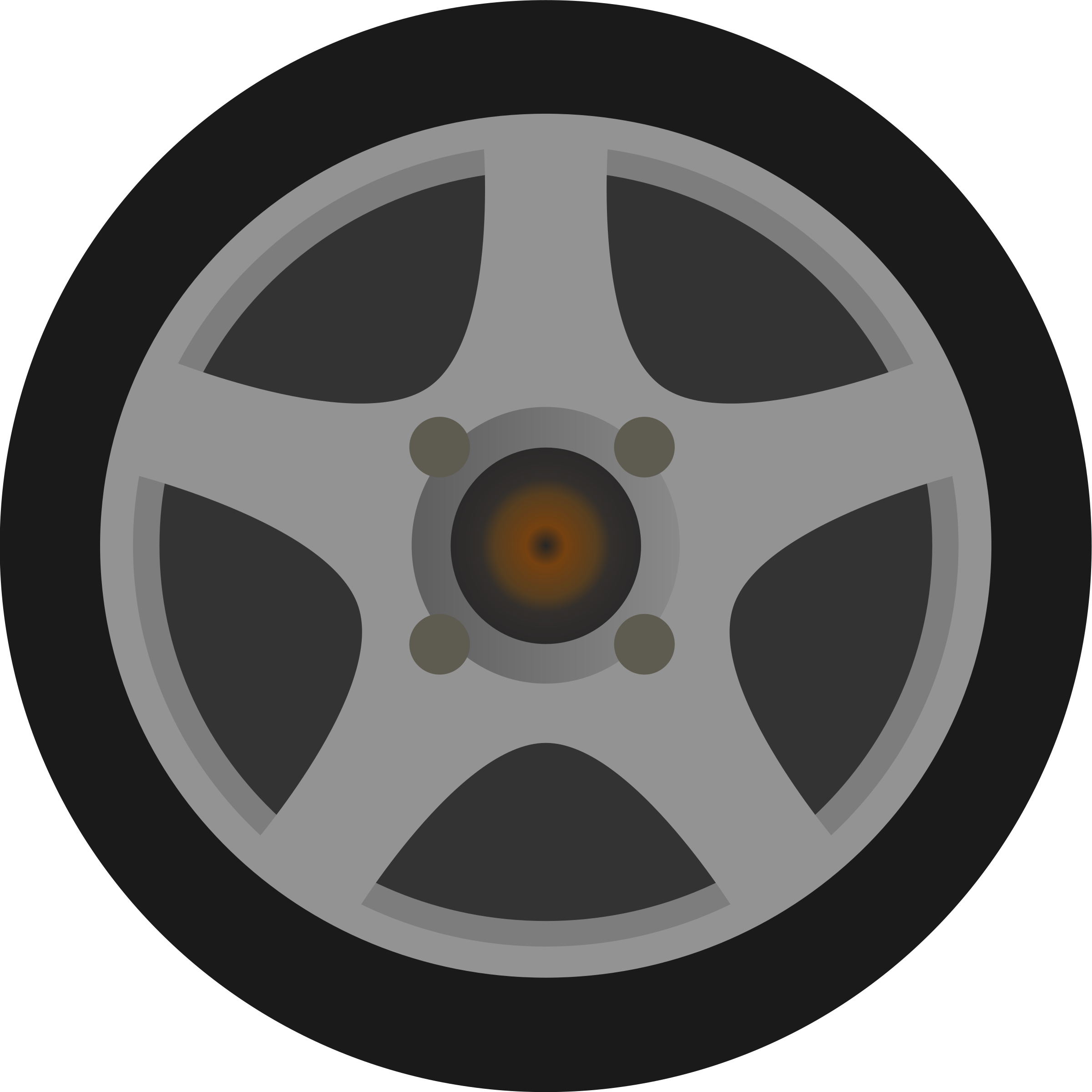 Simple car tire side. Wheel clipart transparent background