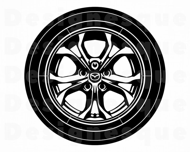 Wheel clipart car wheel. Svg tire files for