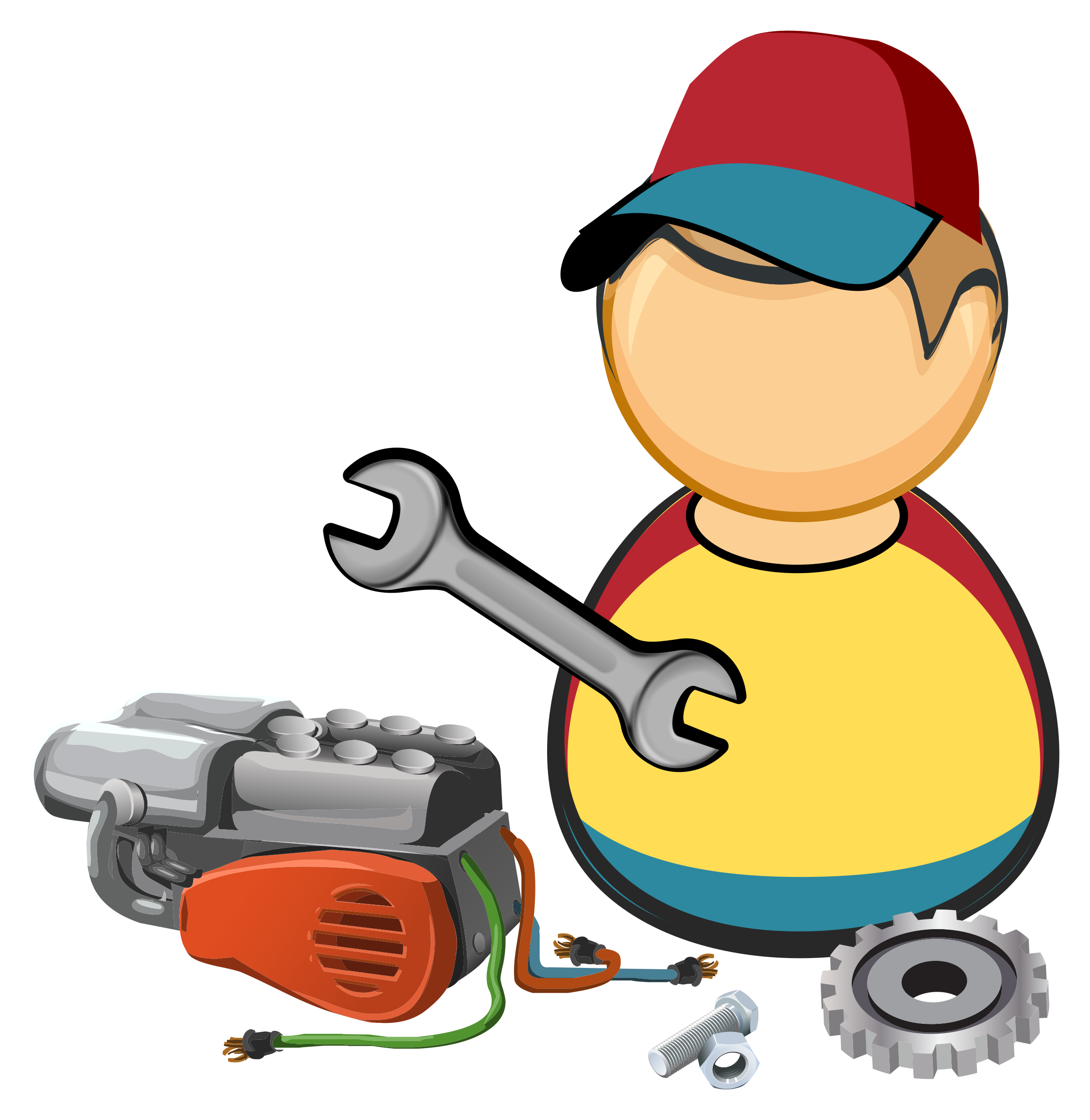 Person clipart car. Automotive mechanic big image