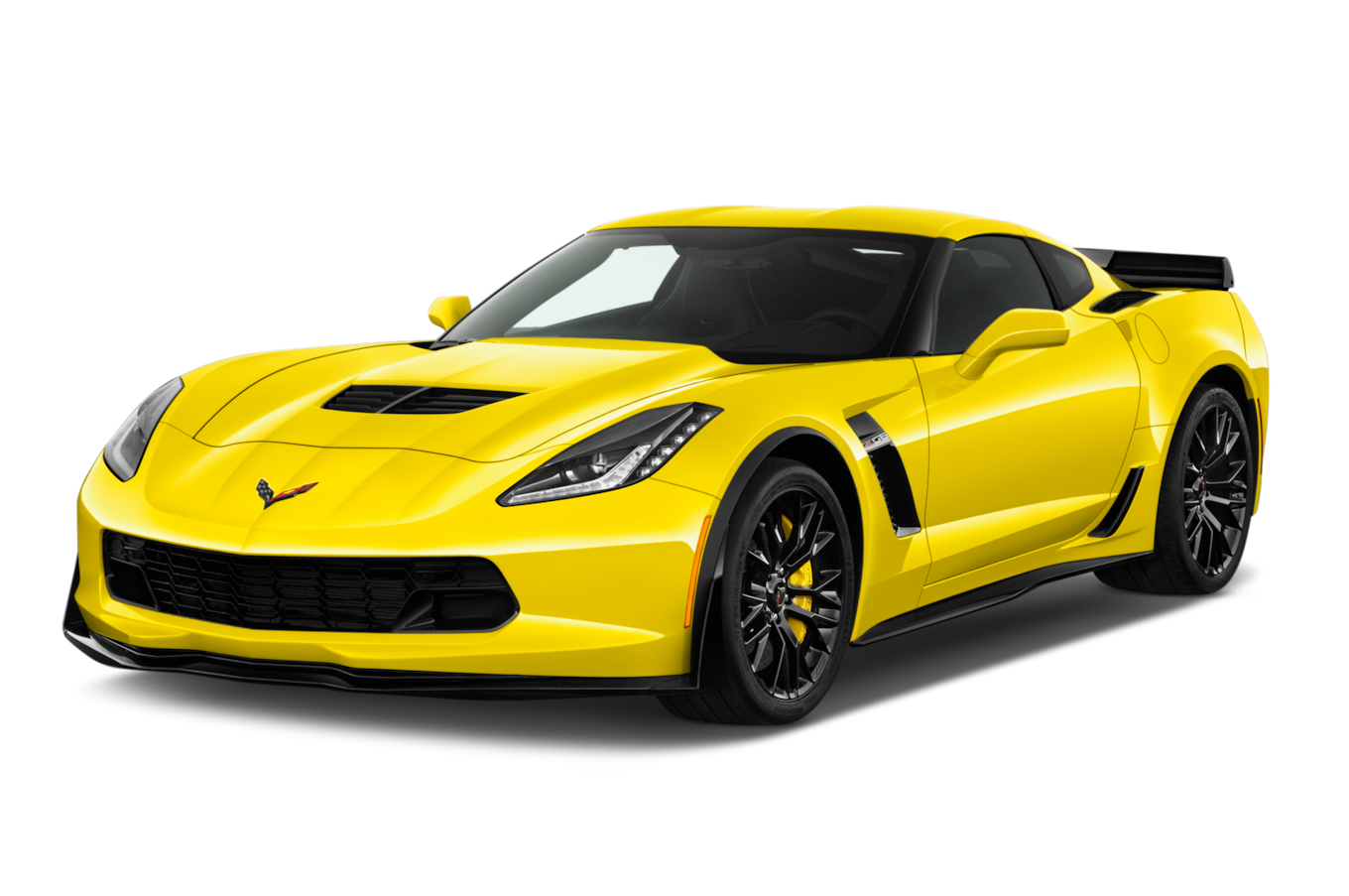 Santa in corvette clip. Clipart car yellow