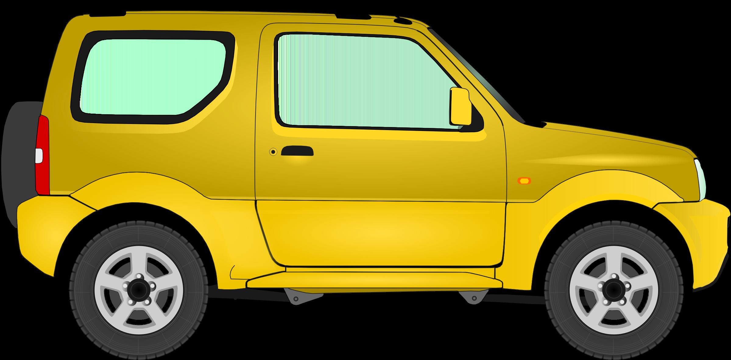 Big image png. Clipart car yellow