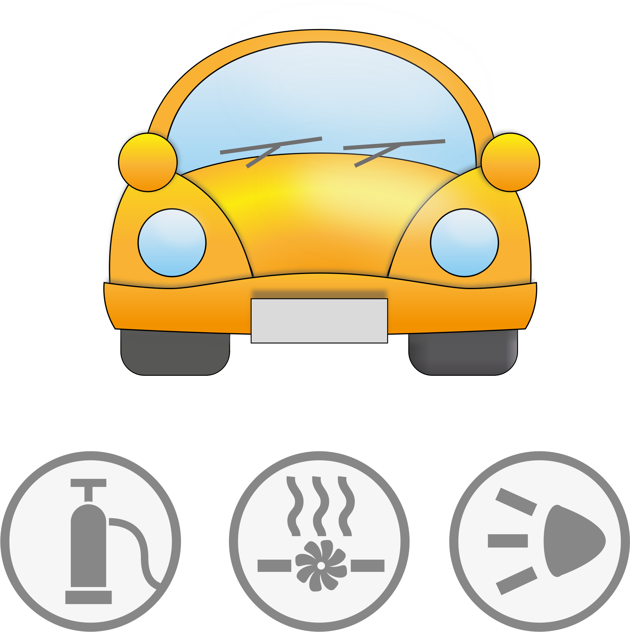 Clipart car yellow. With symbolic signs for