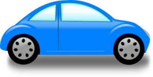 Clipart car. Blue clip art at