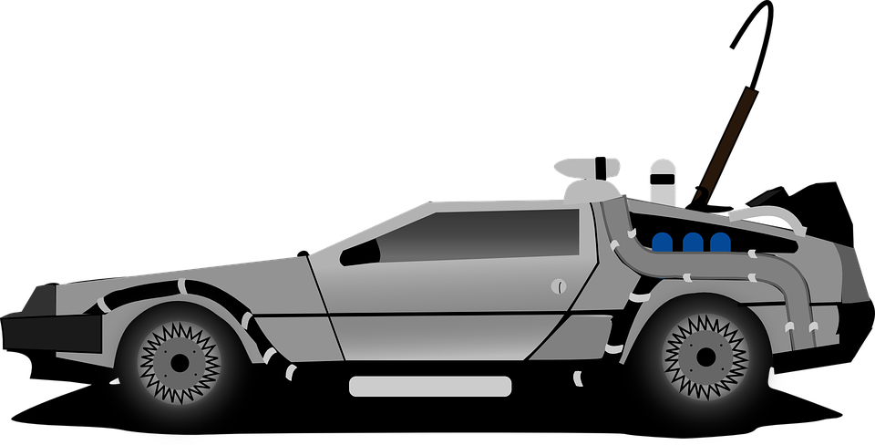 Delorean svg free on. Clipart cars back