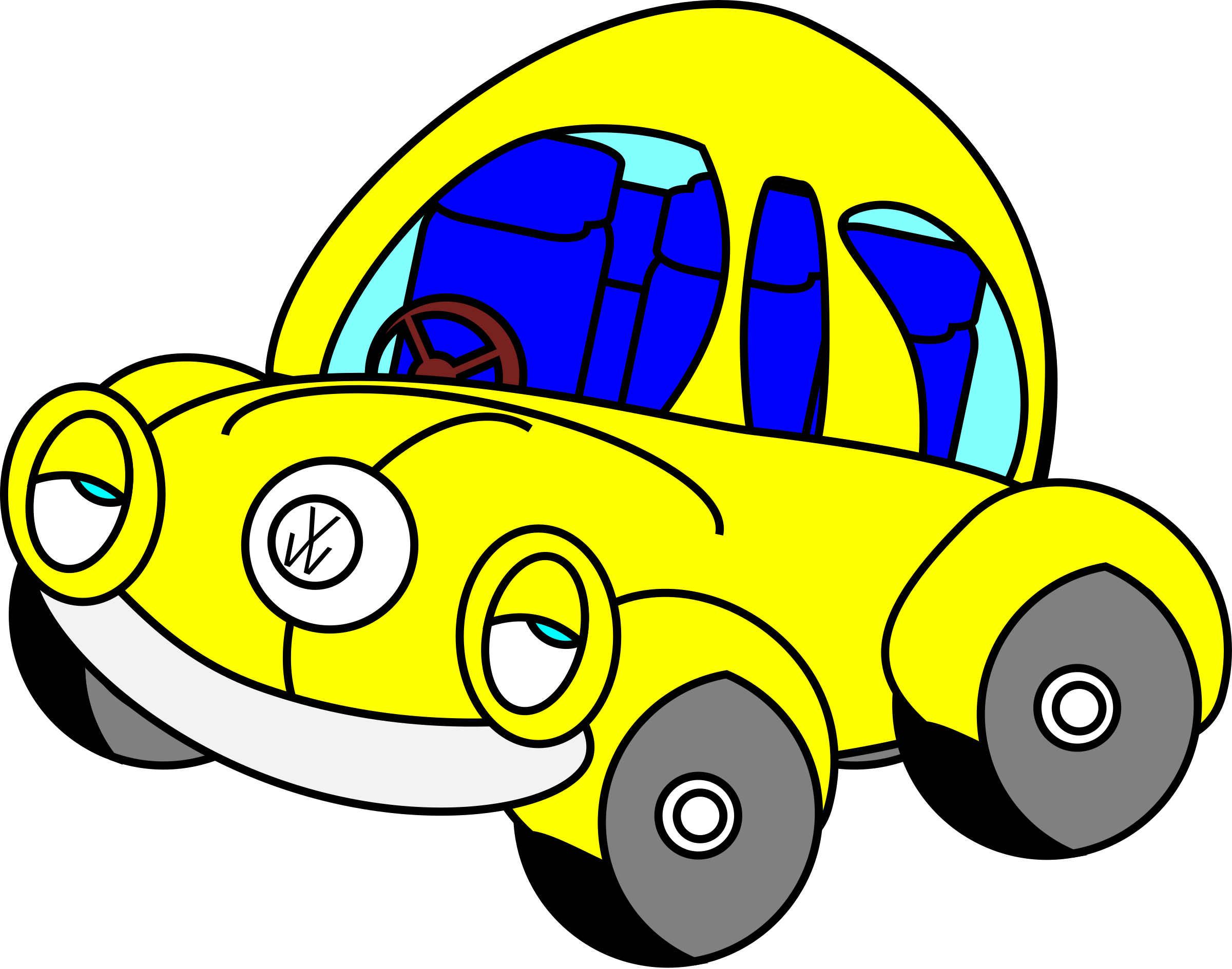 Sleepy vw big image. Clipart cars beetle