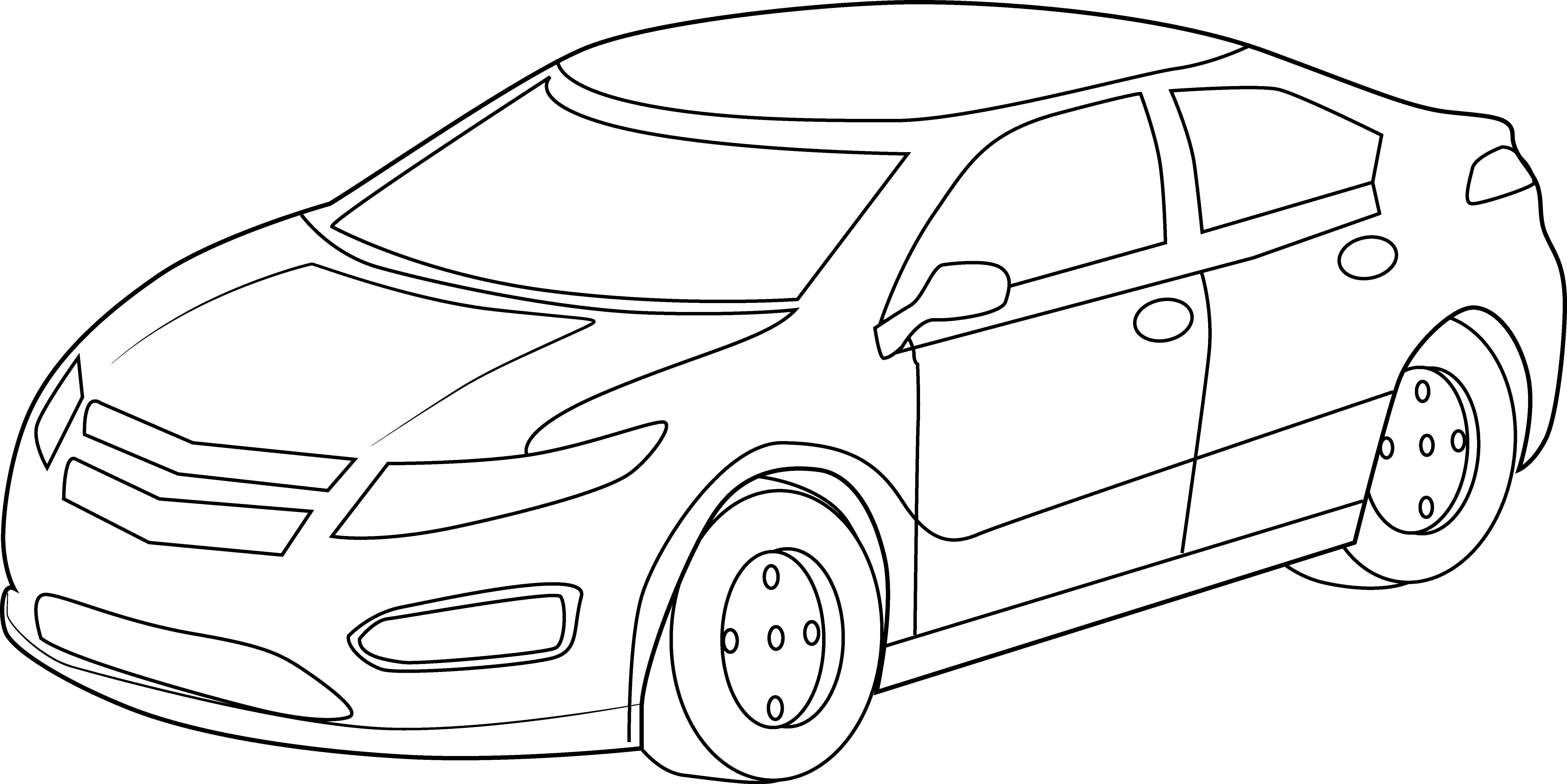 Car Line Drawing Art