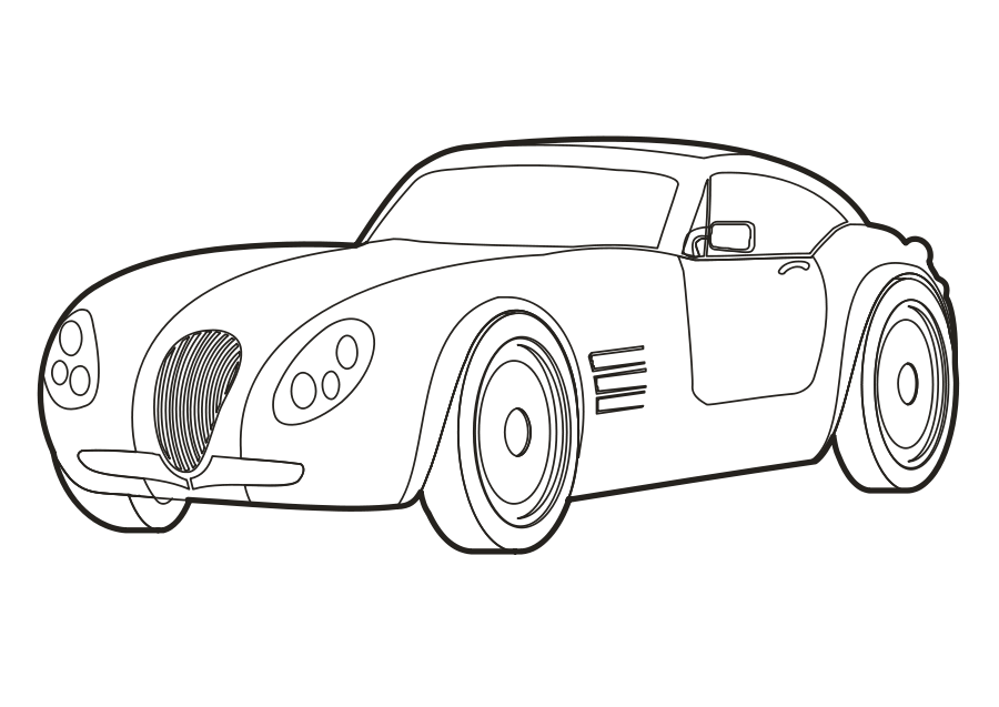 collection of cartoon. Clipart cars black and white