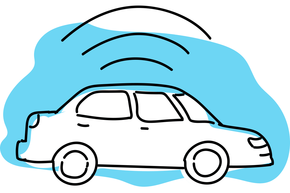 Taxi wifi icon png. Clipart cars blue