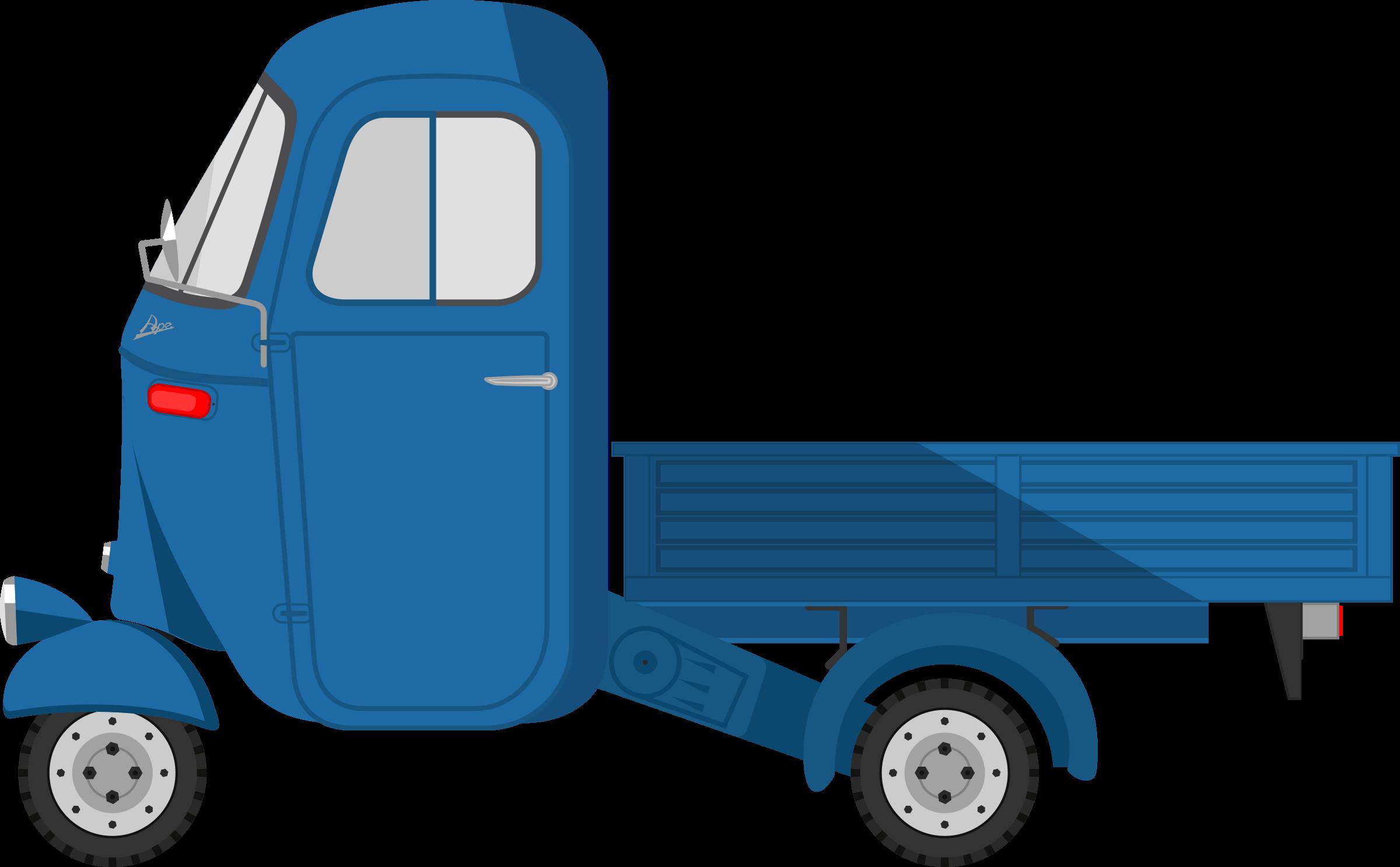Piaggio ape car png. Clipart cars blue