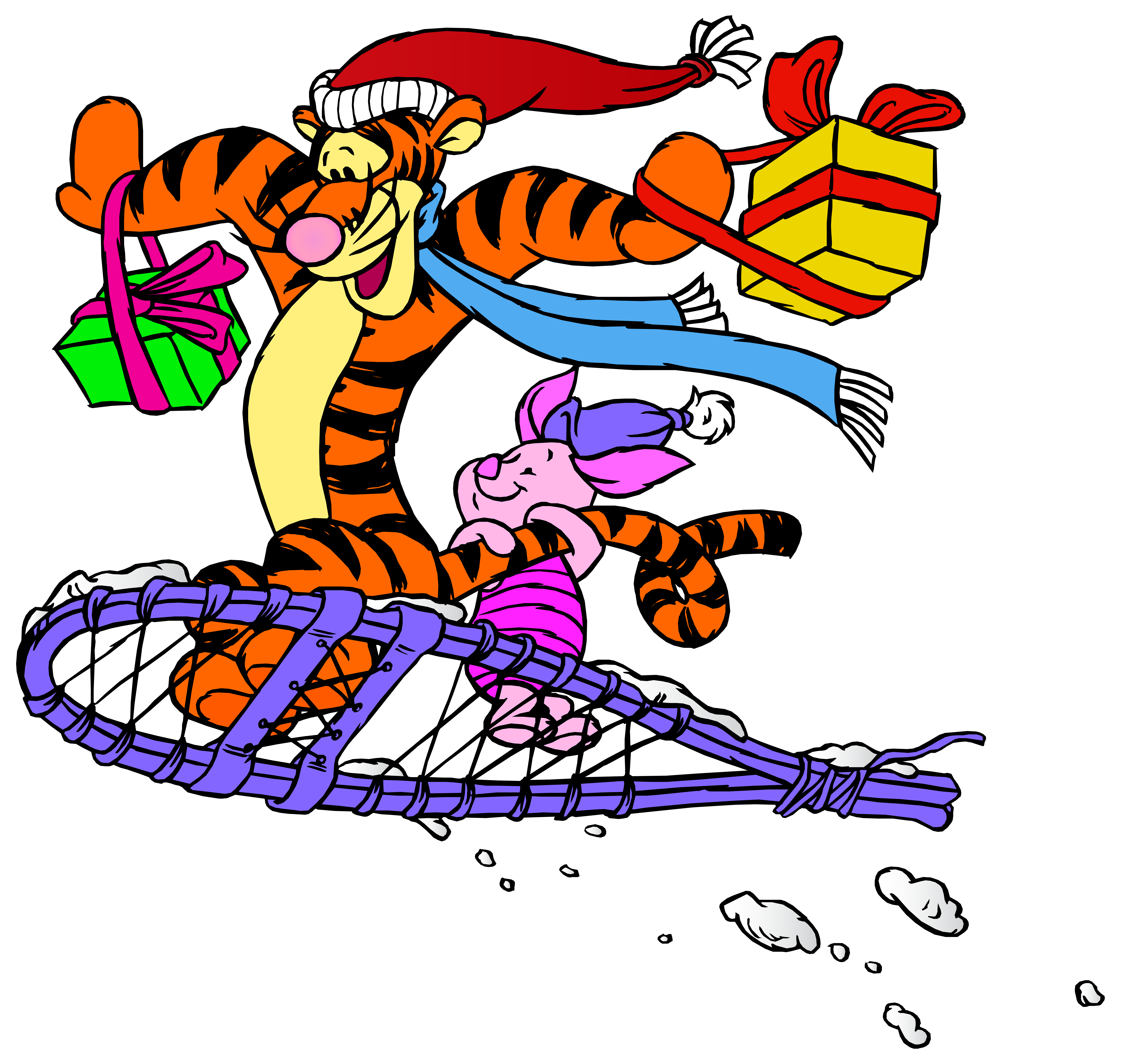 Tigger and piglet png. Clipart cars christmas