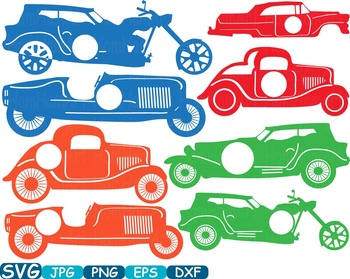 Clipart cars circle. Frame old sport antique