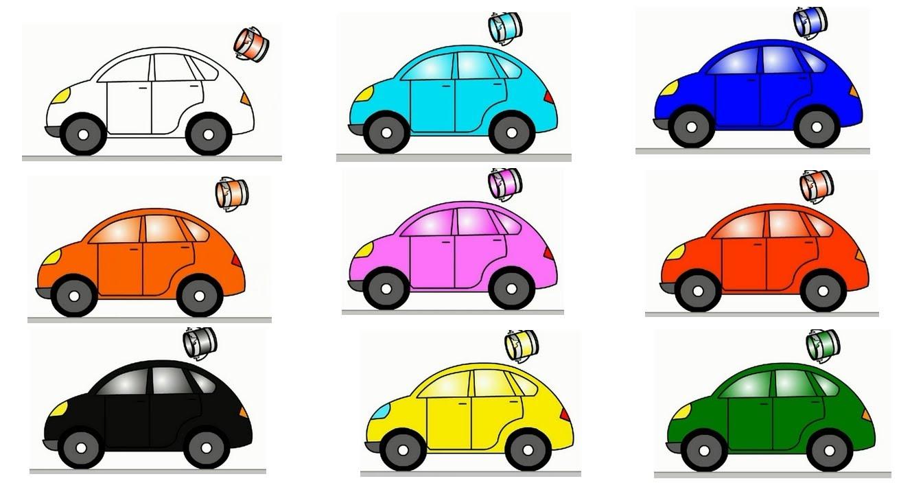 Clipart cars colour. Smart kids learn color