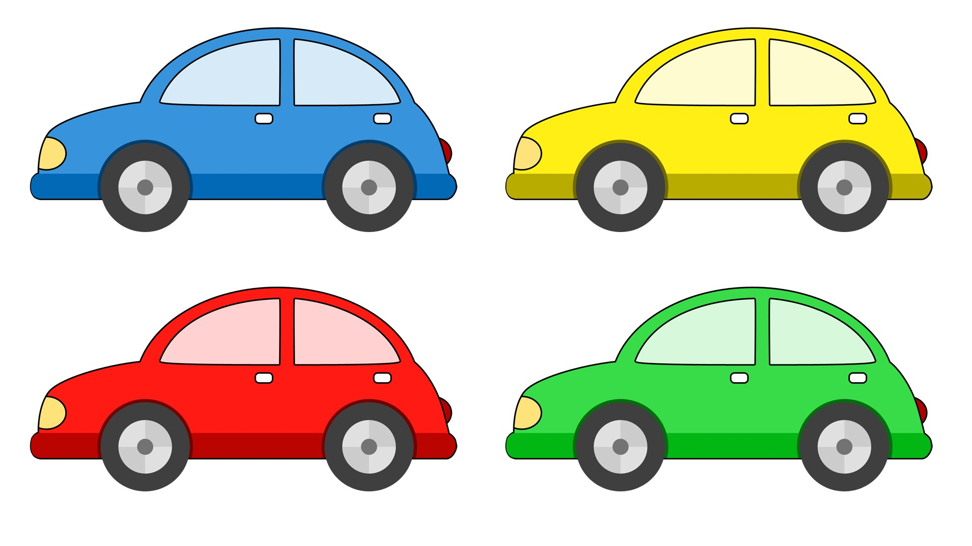 Car cartoon images free. Clipart cars colour