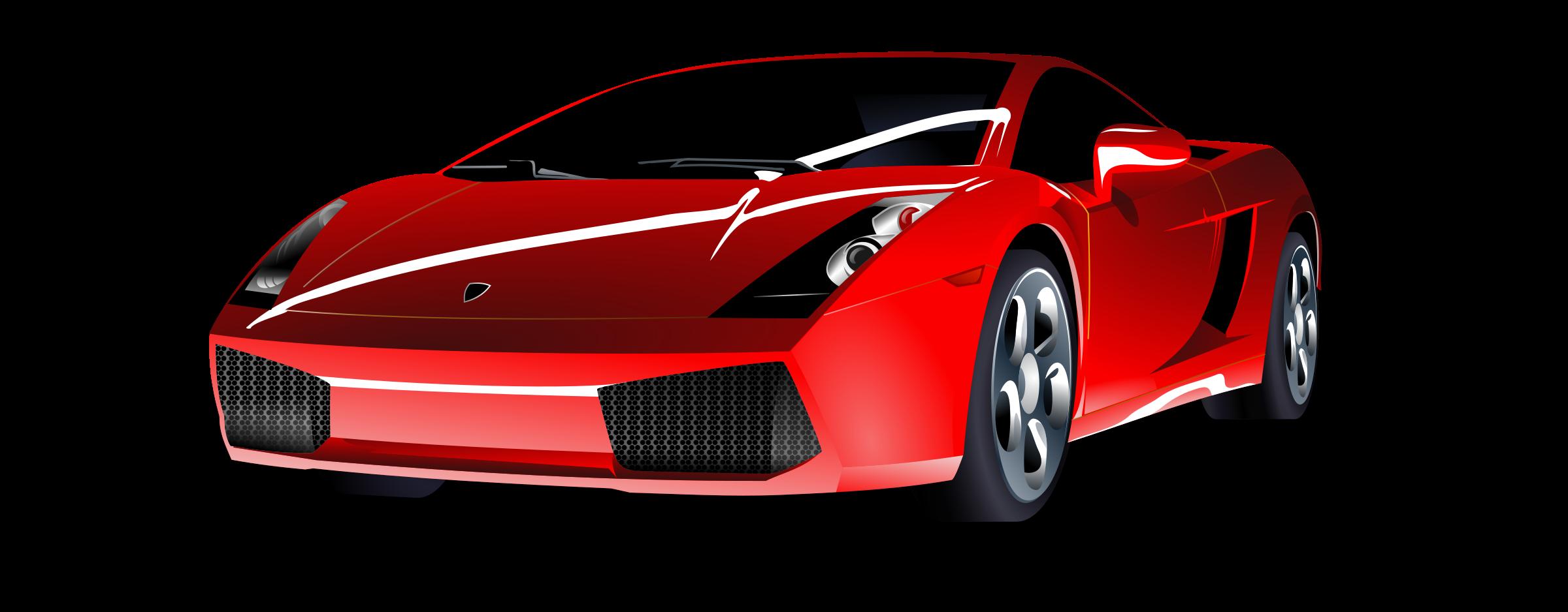 Red sports car big. Clipart cars colour