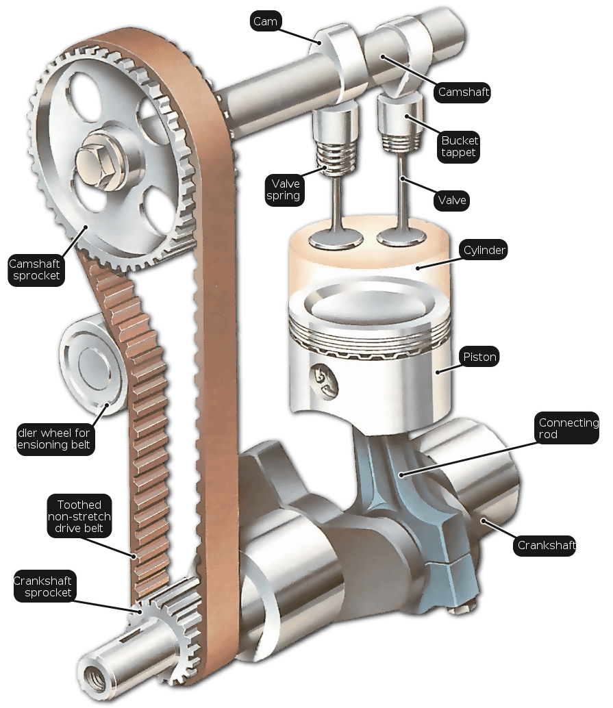 Engine clipart v8 engine. The how valves open