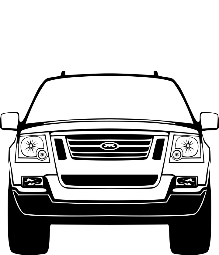 Front of a car. Clipart cars face