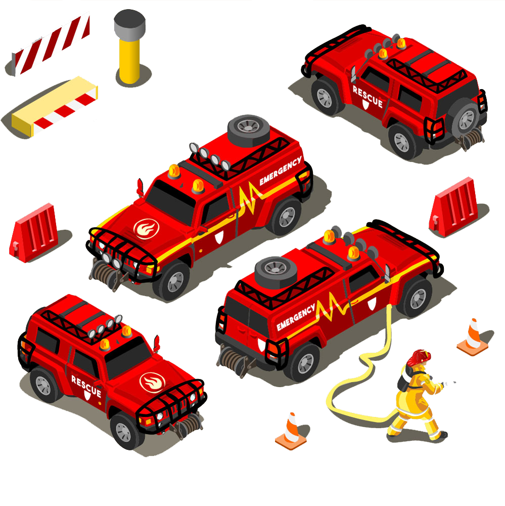 Royalty free rescue clip. Clipart cars firefighter
