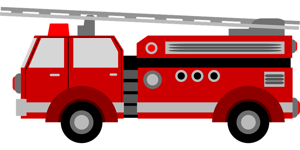 Firefighter clipart vehicle. Fire engine red department