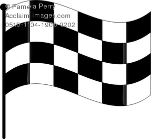 Clip art image of. Clipart cars flag