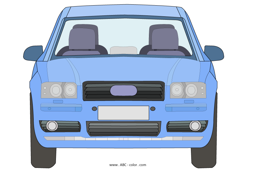 Front the raster . Color clipart car