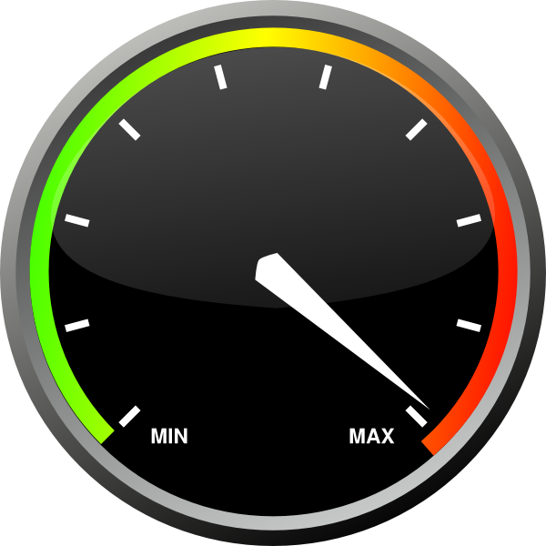 fast clipart speed meter