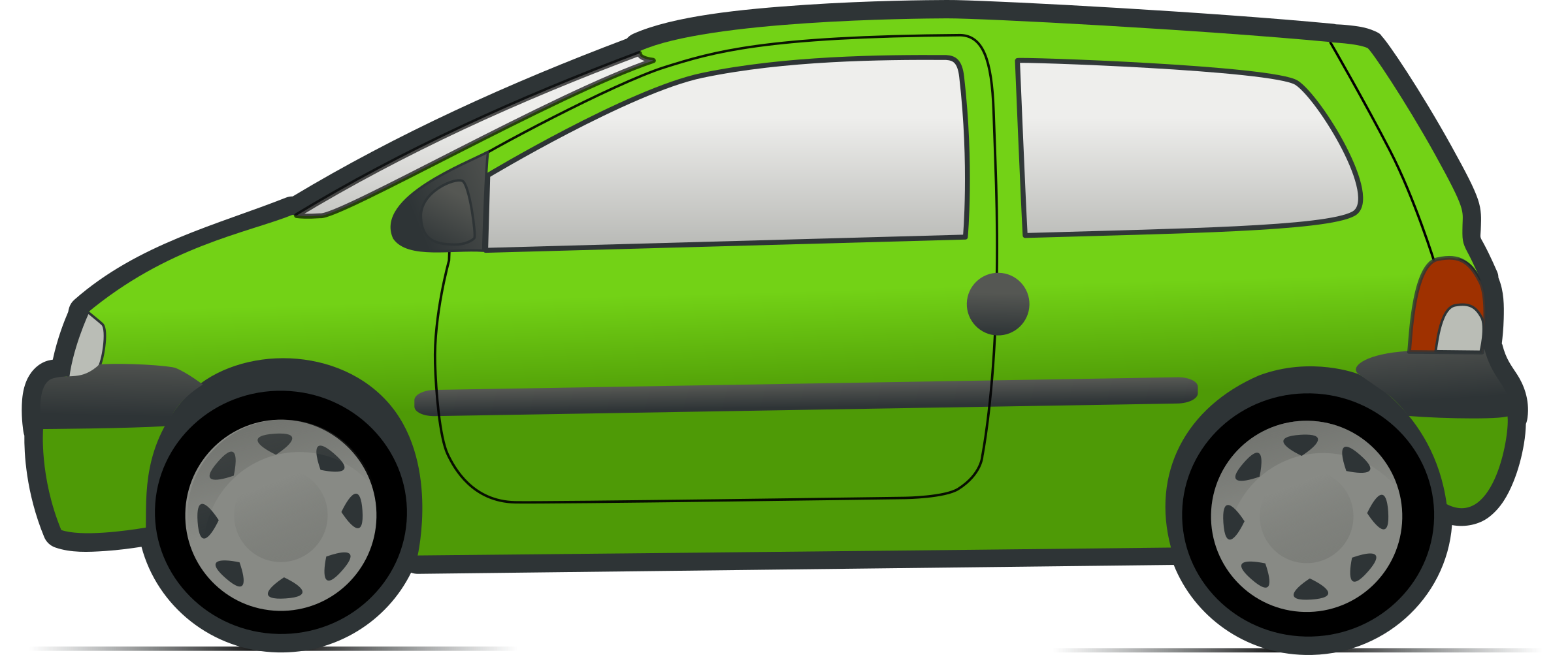 Red and renault twingo. Clipart cars green