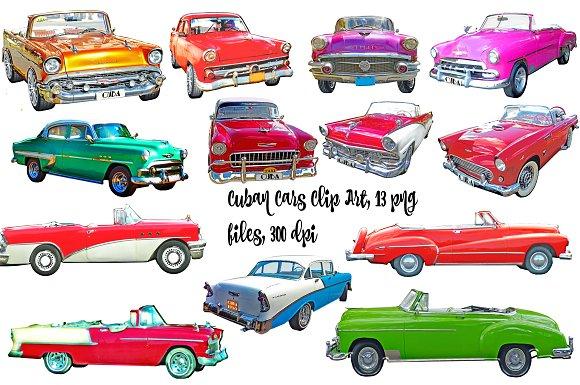 Cuban vintage clip art. Clipart cars handle