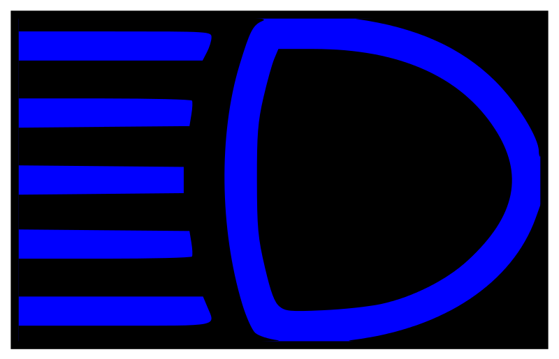 Clipart cars headlight. Headlights laws and road
