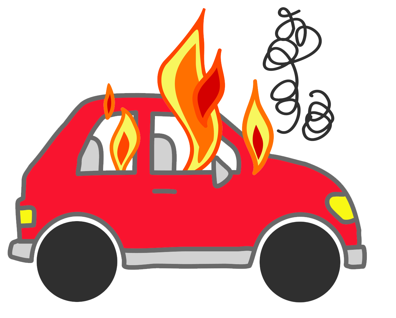 Cars on fire noxad. Youtube clipart car