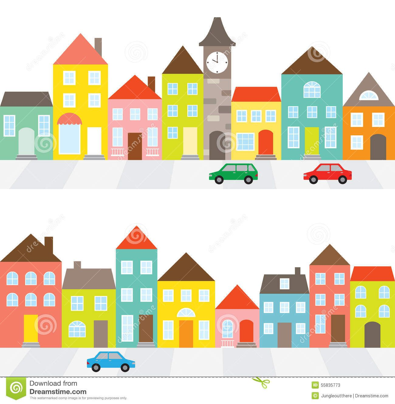 Clipart cars house. Photo about illustration of