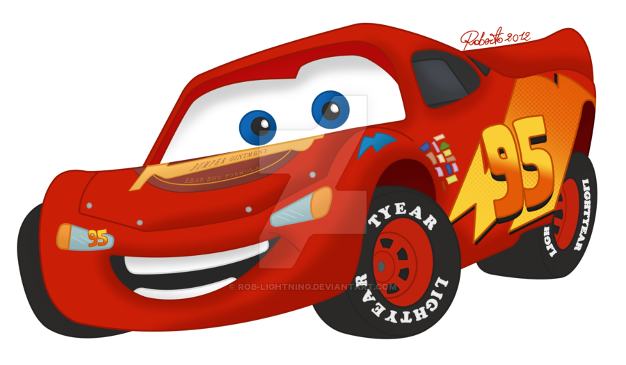 Clipart cars lightning mcqueen. Colored by rob on