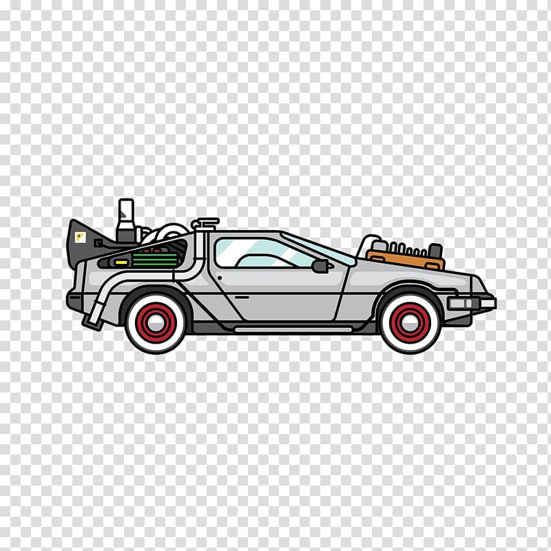 Future clipart car delorean. Back to the illustration