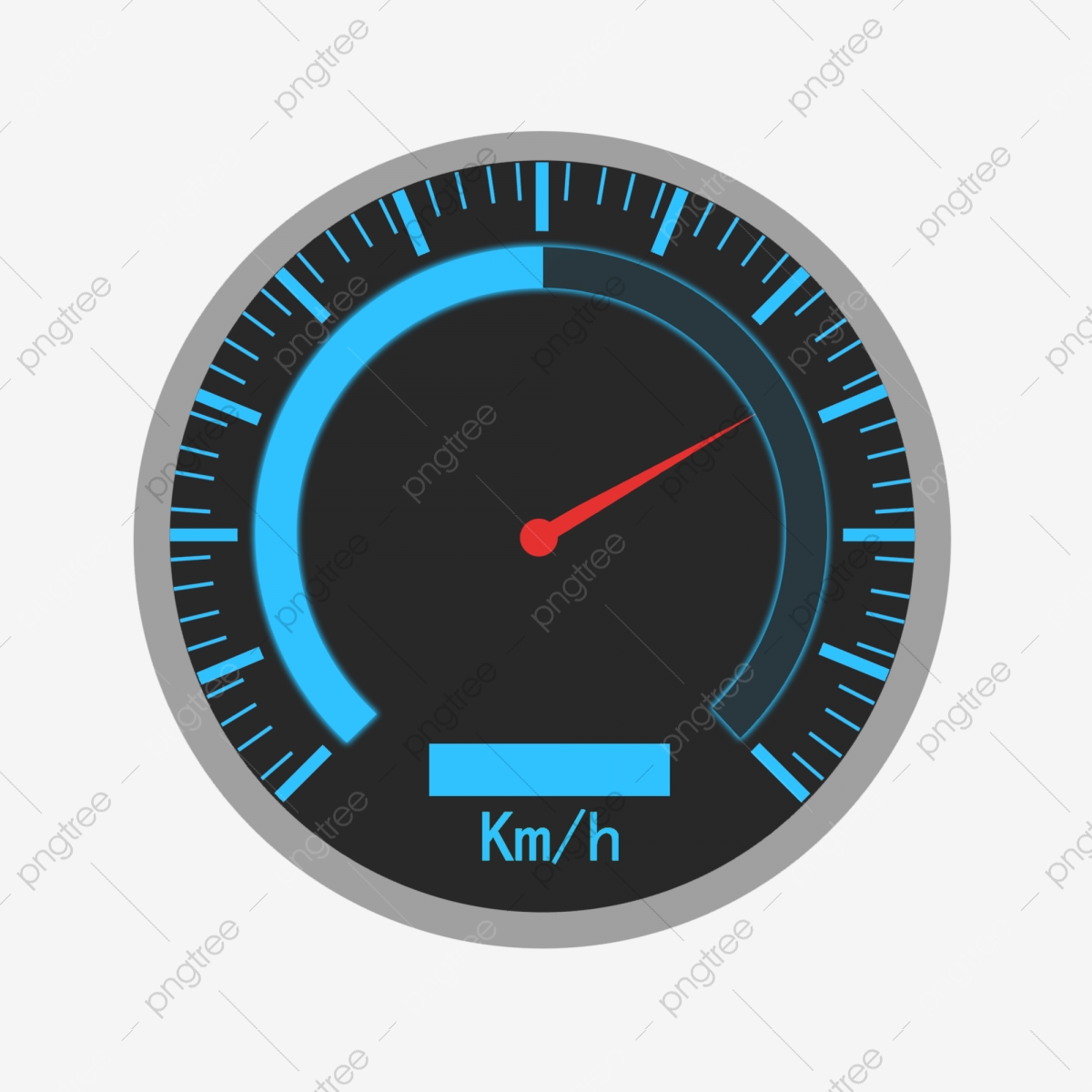 Simple car speed dashboard. Clipart cars meter