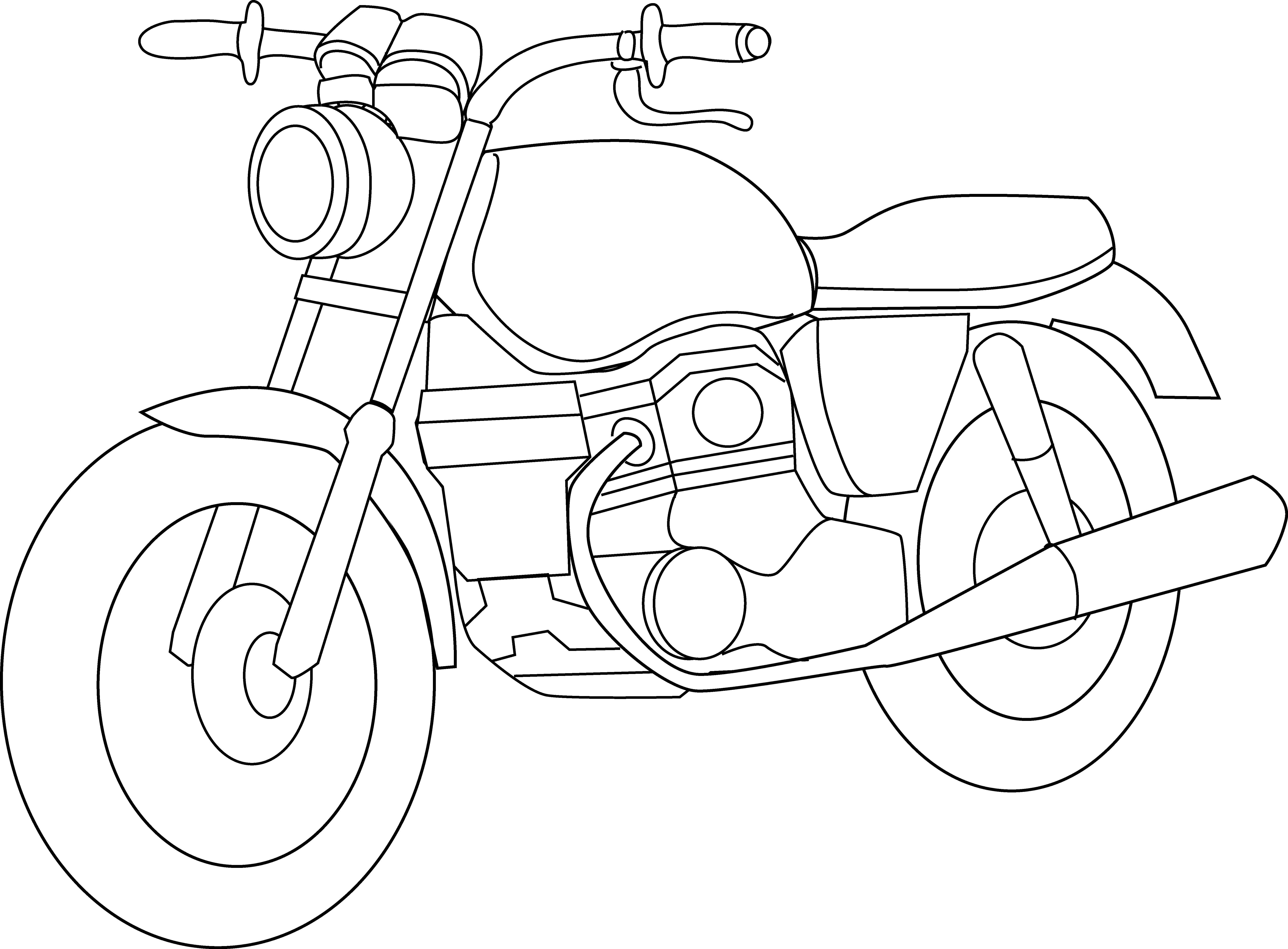 Black and white panda. Motorcycle clipart printable