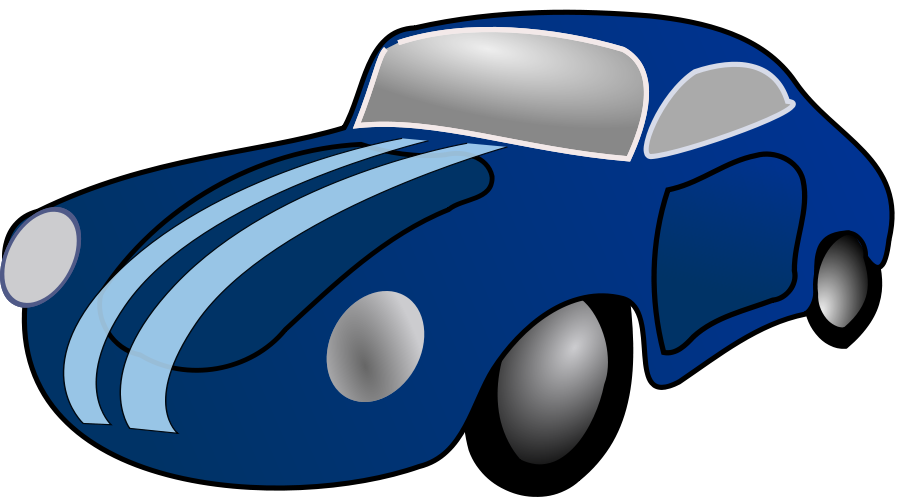 Clipart cars muscle. Free blue car download