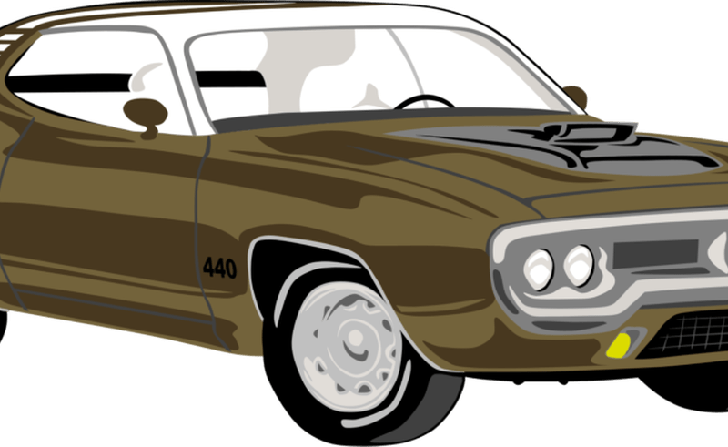Clipart cars muscle. Classic plymouth clip art