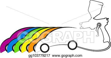 Vector car design illustration. Clipart cars painting