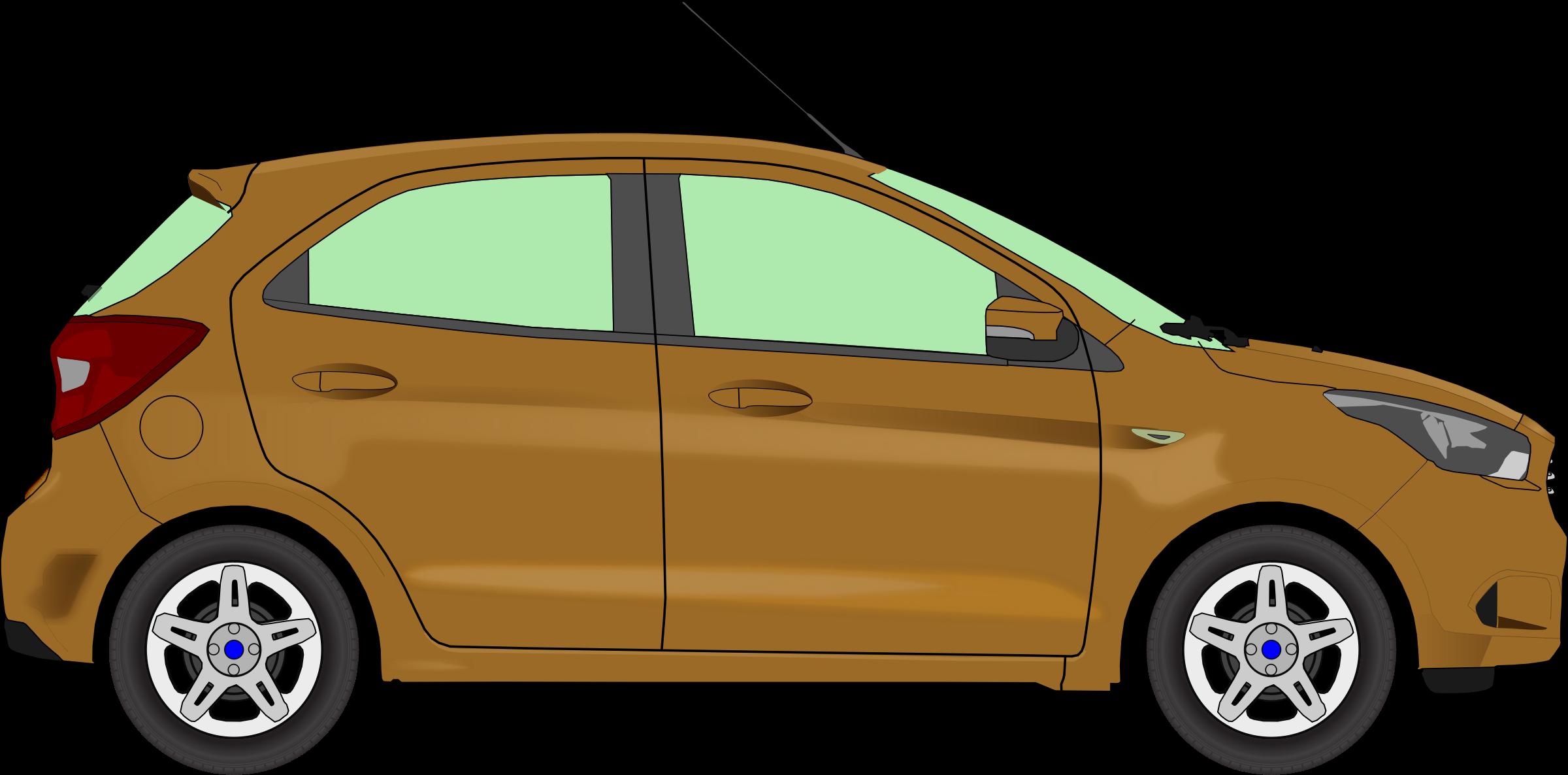 Car brown big image. Clipart cars pdf