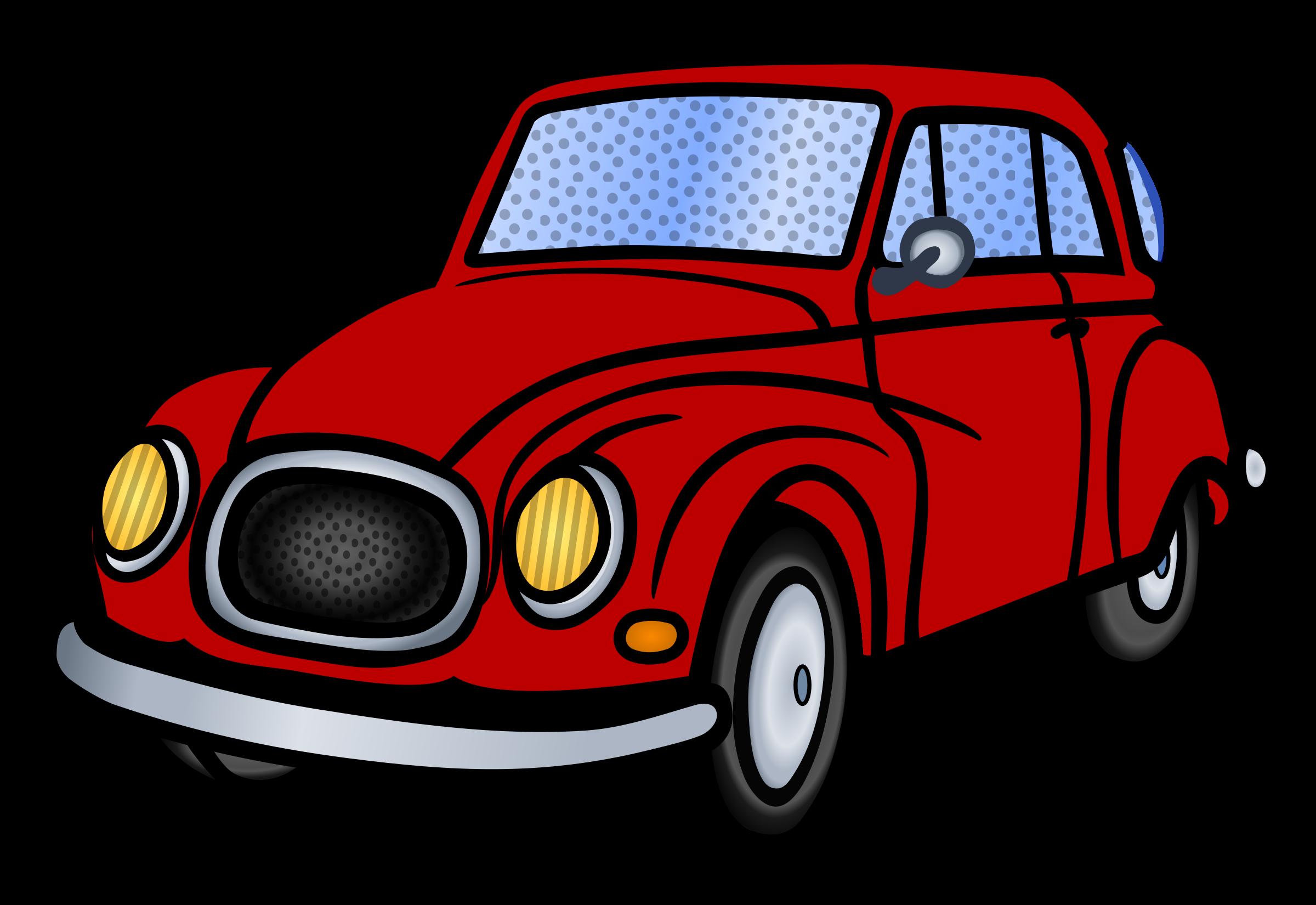 Clipart cars pdf. Car coloured big image
