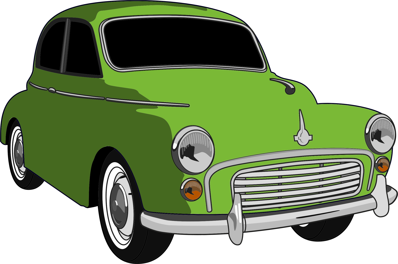Clipart cars pdf. Classic green car big