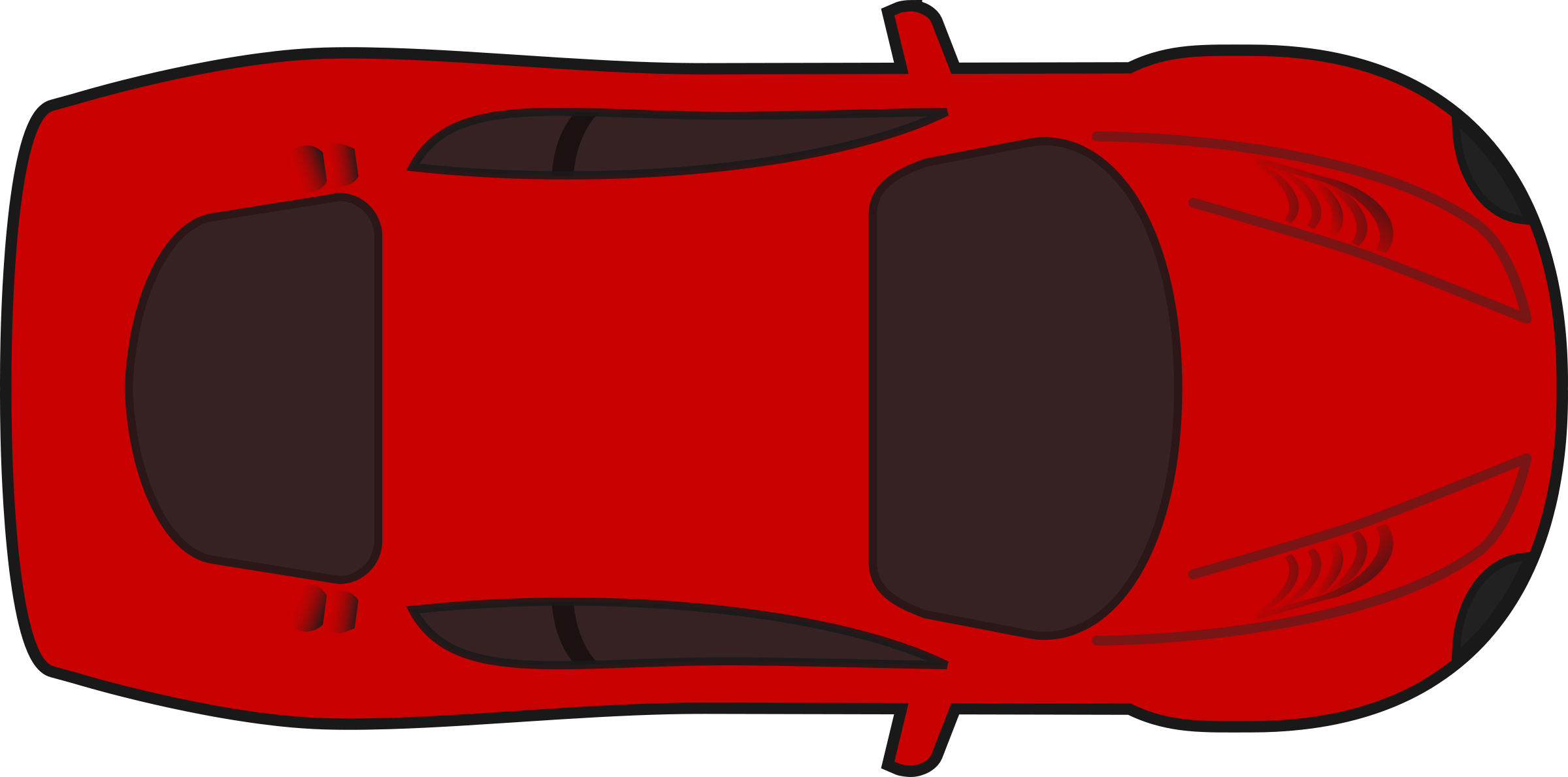 Red racing car top. Clipart cars pink