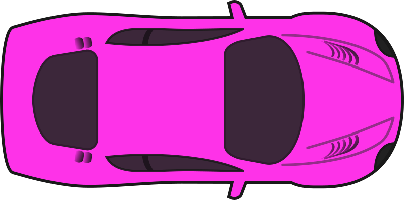 Clipart cars pink. Racing car top view