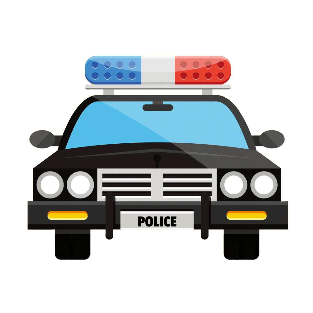 Clipart cars police officer. Car clip art flat
