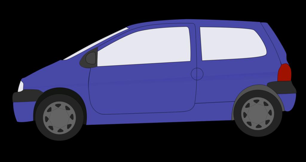 blue family car. Minivan clipart dog