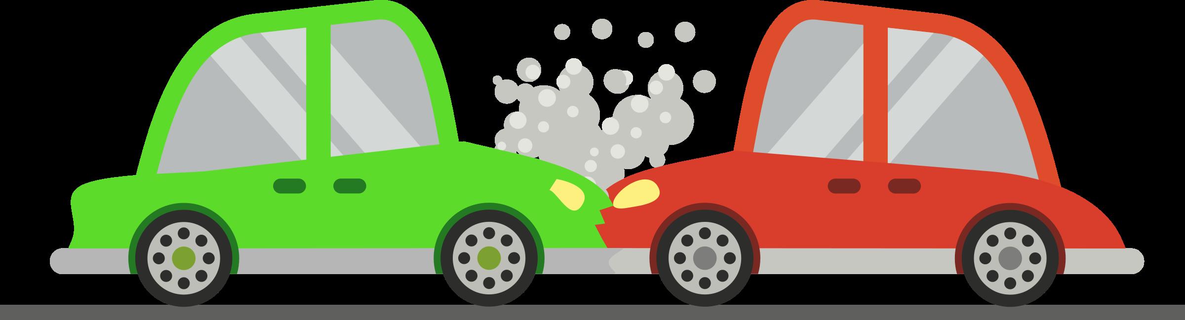 Clipart cars smoke. Two crash big image