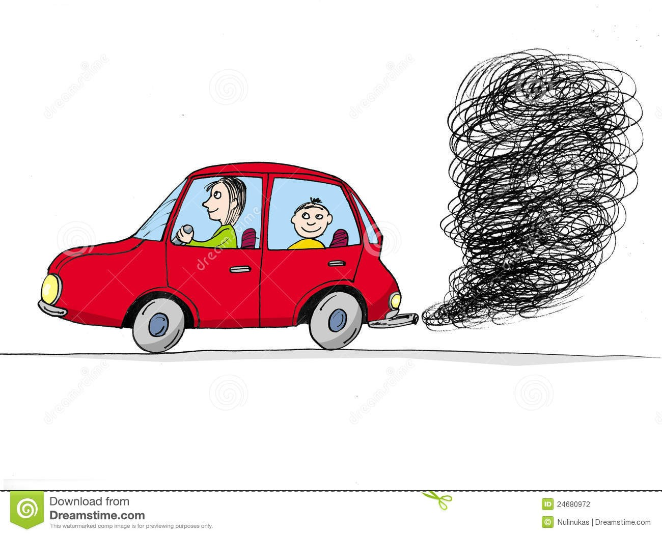 With car fumes exhaust. Clipart cars smoke