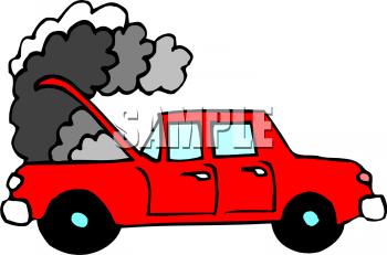 Clipart cars smoke. Car station