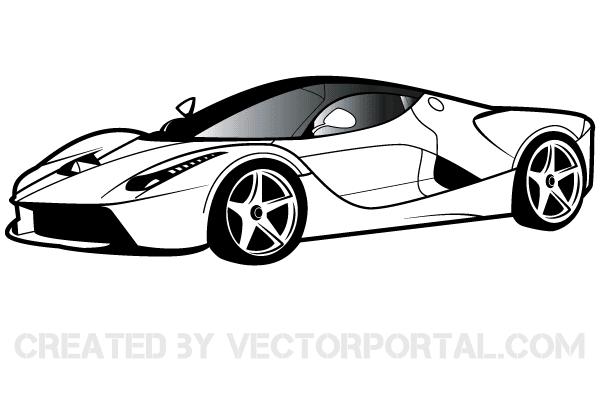 Clipart cars sport. Ferrari free vectors car